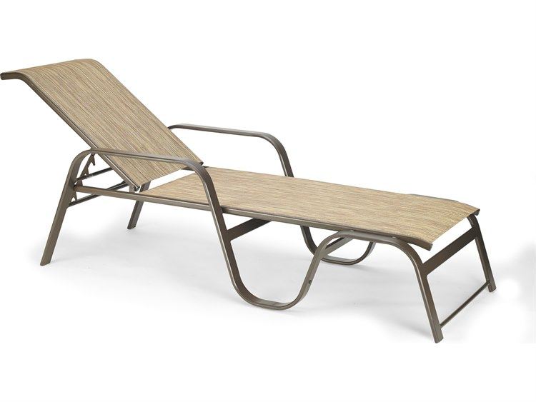 Winston Quick Ship Key West Sling Aluminum Stackable Chaise