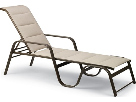 Winston Quick Ship Key West Padded Sling Aluminum Stackable Chaise
