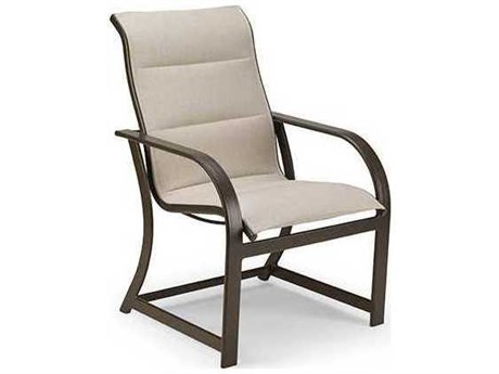 Winston Quick Ship Key West Padded Sling Aluminum High Back Dining Chair