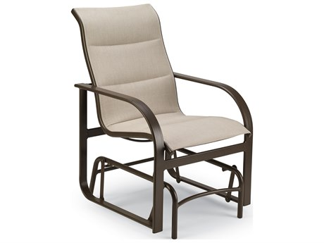 Winston Quick Ship Key West Padded Sling Aluminum High Back Chair Glider