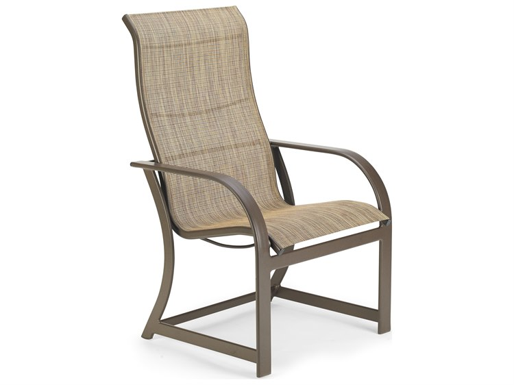 Winston Quick Ship Key West Sling Aluminum Ultimate High Back Dining Chair