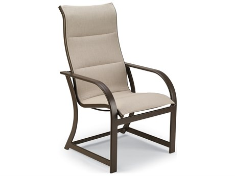 Winston Quick Ship Key West Padded Sling Aluminum Ultimate High Back Dining Chair