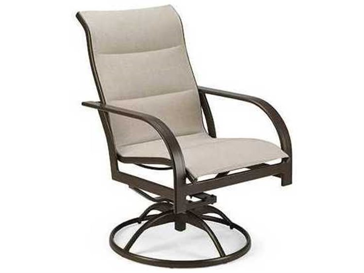 Winston Quick Ship Key West Padded Sling Aluminum High Back Swivel Tilt Chair
