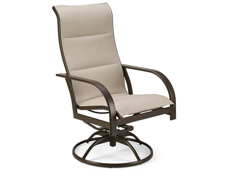 Winston Quick Ship Key West Padded Sling Aluminum Ultimate High Back Swivel Tilt Chair