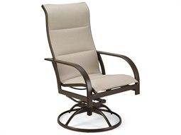 Quick Ship Key West Padded Sling Aluminum Ultimate High Back Swivel Tilt Chair