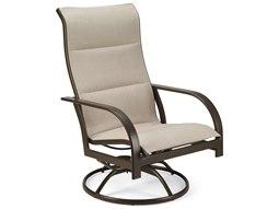 Quick Ship Key West Padded Sling Aluminum Swivel Tilt Chair