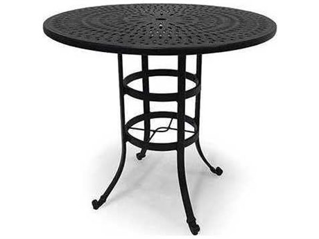 Winston Cast Aluminum - Round Metal Patio Bar Table