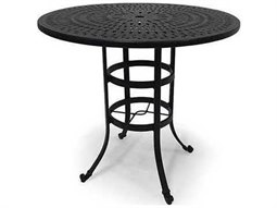 Winston Cast Aluminum - Round Metal Patio Bar Table