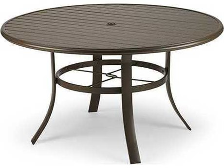 Winston 42 Round Slat Extruded Chat Table