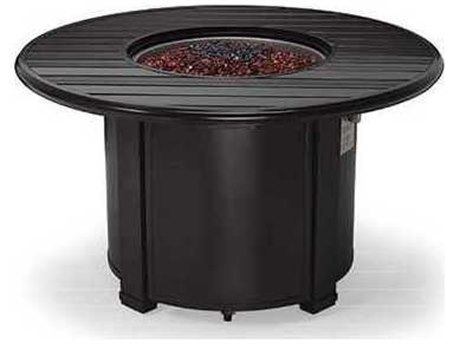 Winston Quick Ship Aluminum 44 Round Slat Fire Pit Table