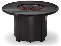 44'' Round Slat Fire Pit Table