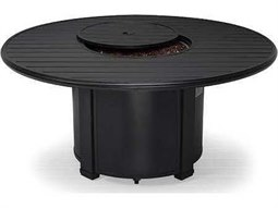 54'' Round Slat Fire Pit Table