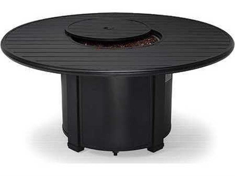 Winston Quick Ship Aluminum 54 Round Slat Fire Pit Table