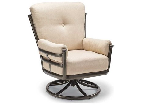 Winston Catania Cushion Aluminum Ultra Swivel Tilt Lounge Chair with Velcro Side Pillows
