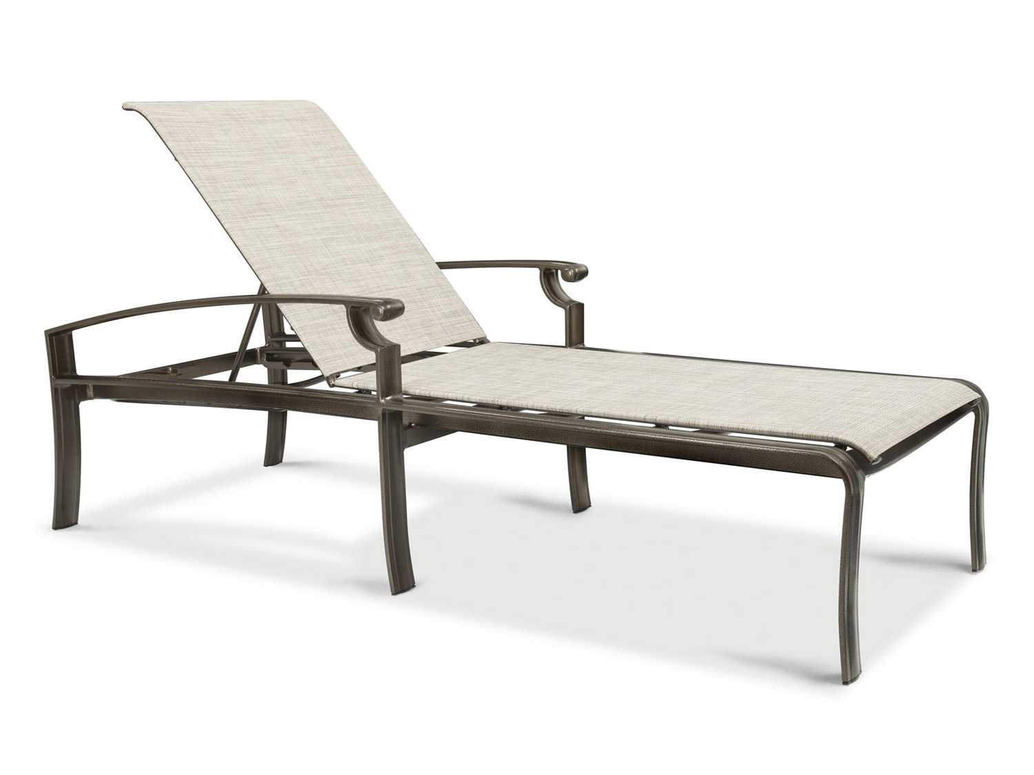 Winston sloane square sling cast aluminum chaise j50009 for Cast aluminum chaise