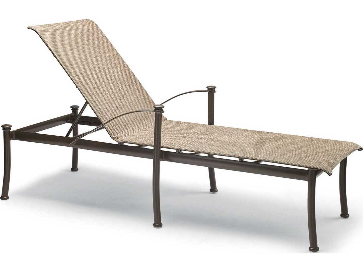 Winston Palazzo Sling Cast Aluminum Arm Chaise Lounge: Winston Catania Sling Aluminum Arm Stackable Chaise