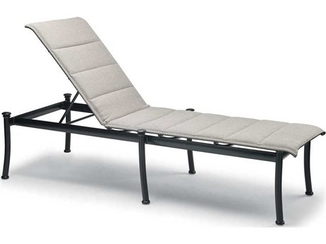 Winston Catania Padded Sling Aluminum Armless Stackable Chaise