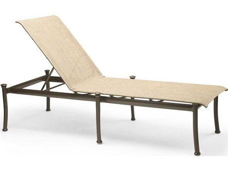 Winston Catania Sling Aluminum Armless Stack Stackable Chaise