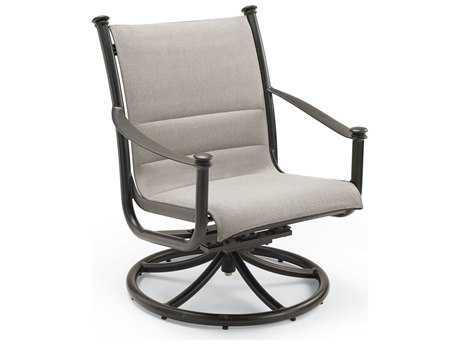Winston Catania Padded Sling Aluminum Swivel Tilt Chat Chair