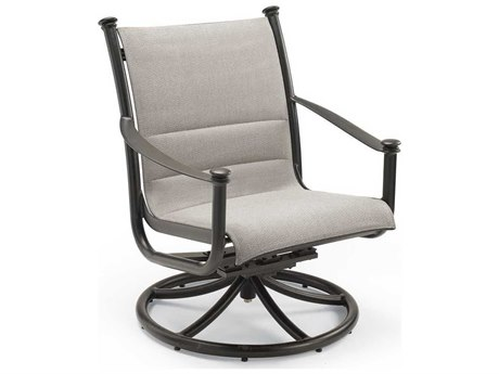 Winston Catania Padded Sling Aluminum Swivel Tilt Chat Chair