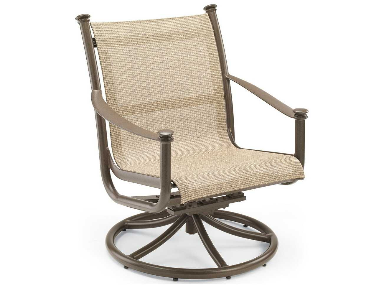 Winston Palazzo Sling Cast Aluminum Arm Chaise Lounge: Winston Catania Sling Aluminum Swivel Tilt Chat Chair