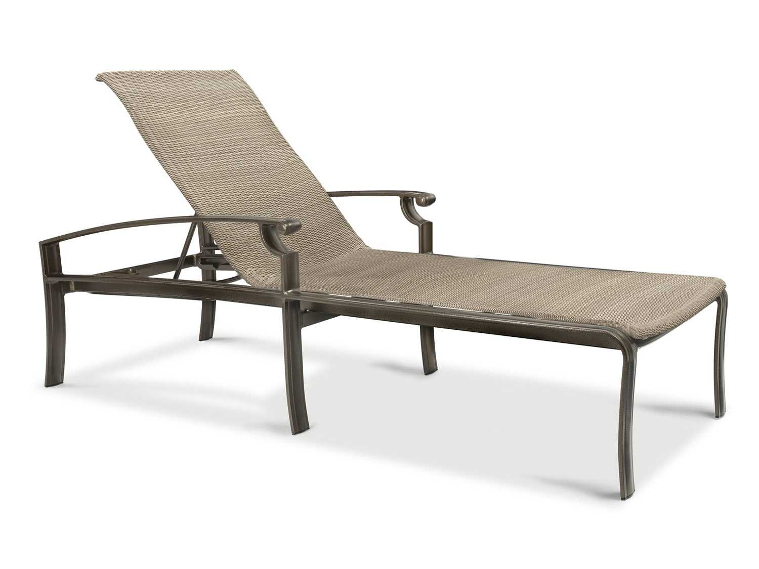 Winston sloane square woven cast aluminum chaise lounge for Cast aluminum chaise