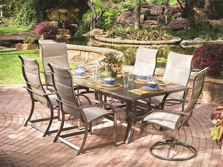 Winston Quick Ship Key West Aluminum Dining Set