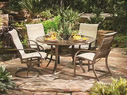 Quick Ship Key West Aluminum Dining Set