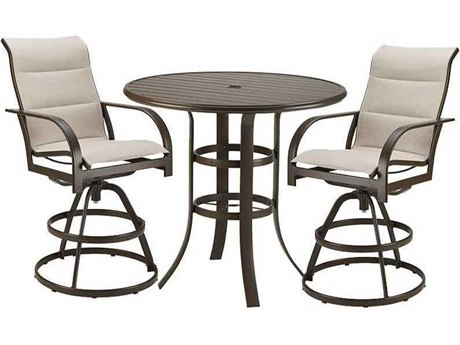 Winston Quick Ship Key West Aluminum 2 Piece Bar Dining Set