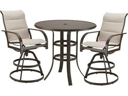 Quick Ship Key West Aluminum 2 Piece Bar Dining Set