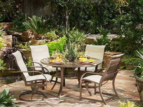 Winston Key West Padded Sling Aluminum Dining Set