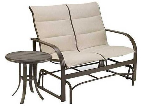 Winston Quick Ship Key West Padded Sling2 Piece Aluminum Loveseat Set