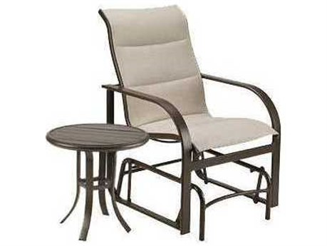 Winston Quick Ship Key West Padded Sling Aluminum 2 Piece Glider Lounge Set