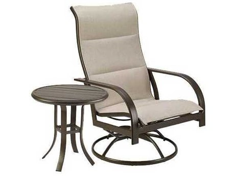 Winston Quick Ship Key West Padded Sling Aluminum 2 Piece Swivel Lounge Set
