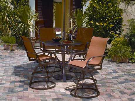 Winston Key West Sling Aluminum Bar Height Dining Set