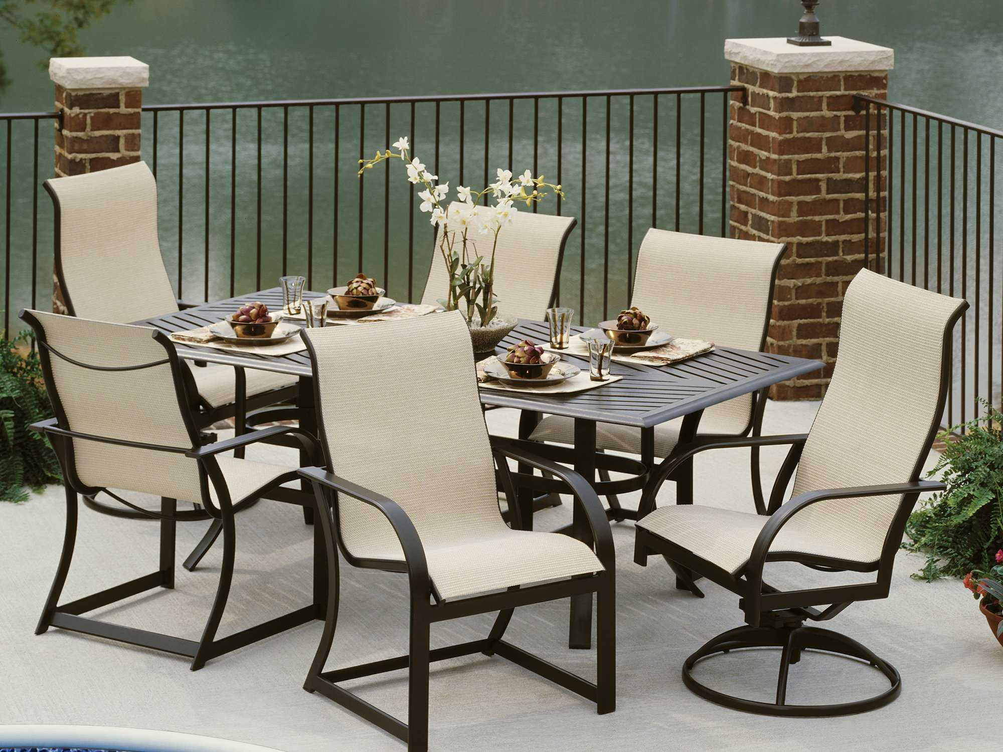 Winston Key West Sling Aluminum Ultimate High Back Dining