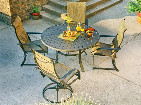 Winston Key West Sling Quick Ship Aluminum Dining Set