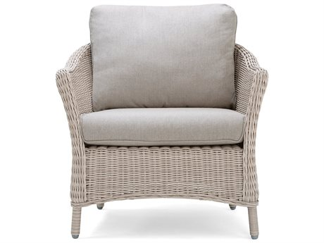 La-Z-Boy Quick Ship Laurel Cushion Tan Wicker Lounge Chair in Cast Shale