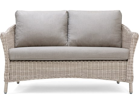 La-Z-Boy Quick Ship Laurel Cushion Gray Wicker Loveseat in Cast Shale