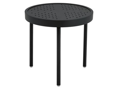 Winston Stamped Aluminum 18'' Round Metal End Table