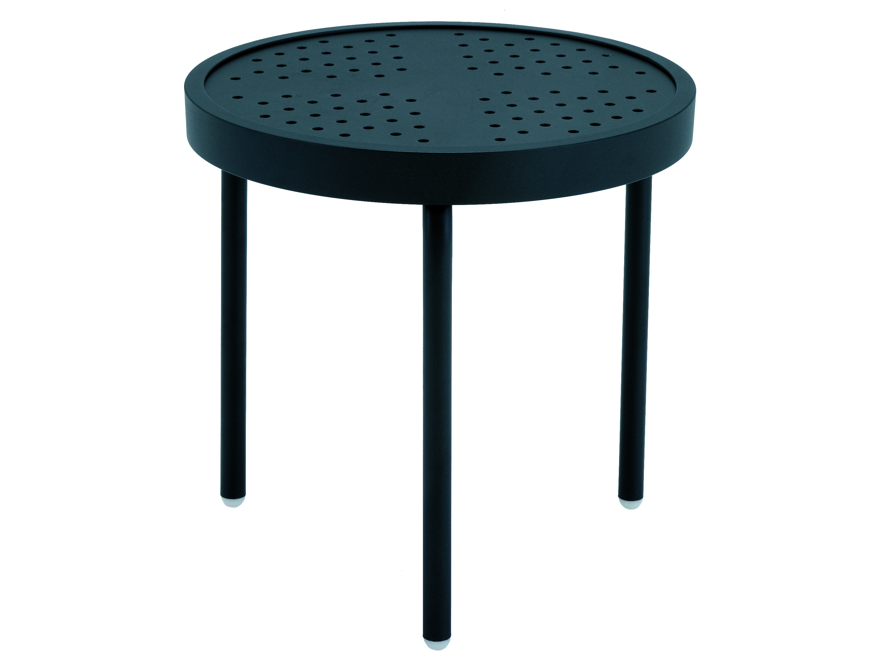 Metal End Tables ~ Winston stamped aluminum  round metal end table