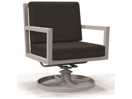 Winston Compass Cushion Aluminum Swivel Lounge Chair