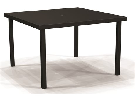 Winston Solid Top Aluminum 44''Wide Square Dining Table
