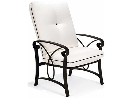 Winston Palazzo Cast Aluminum Cushion High Back Arm Dining Chair PatioLiving