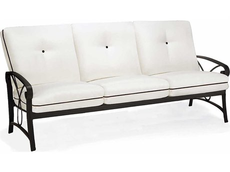 Cushion Cast Aluminum Sofa - Stationary