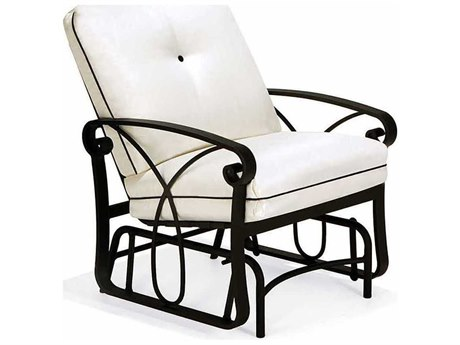 Winston Palazzo Cushion Cast Aluminum Arm Lounge Chair Glider PatioLiving