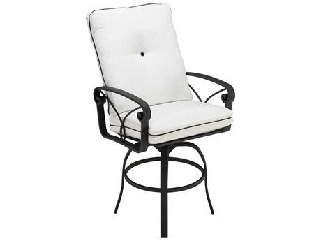 Winston Palazzo Cushion Cast Aluminum Swivel Bar Stool