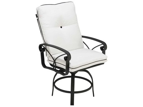 Winston Palazzo Cushion Cast Aluminum Swivel Balcony Height Stool