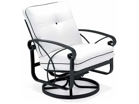 Winston Palazzo Cushion Cast Aluminum Arm Swivel Rocker Lounge Chair