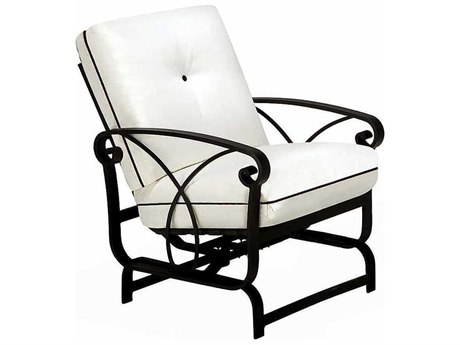 Winston Palazzo Cushion Cast Aluminum Arm Spring Lounge Chair
